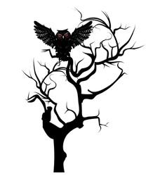 Black Owl3 vector image vector image