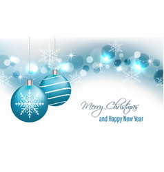 christmas greeting card and new year wishes vector image vector image