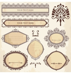 Collection of ornamental elements vector