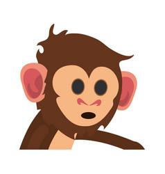 cute expressive monkey cartoon icon imag vector image