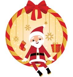 Cute Santa vector image vector image