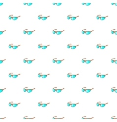 Cycling sunglasses pattern cartoon style vector