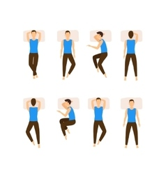 Different Sleeping Poses Set vector image