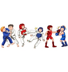 Different sports for martial arts vector image vector image