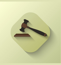 gavel icon vector image
