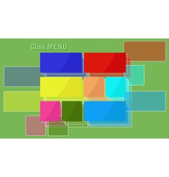 Glass menu vector image vector image