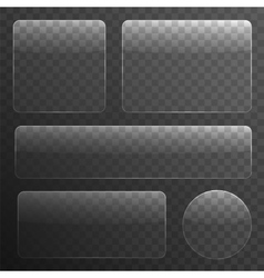 Glass Plates Set on Transparent Background vector image