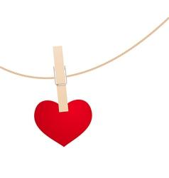 Heart clothespin vector