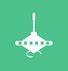 Icon on background whirligig movement vector