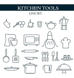 Kitchen tools web icons vector