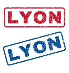 Lyon rubber stamps vector