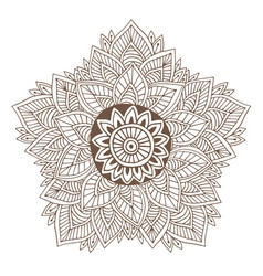 mandala or henna tattoo design ornamental round vector image vector image
