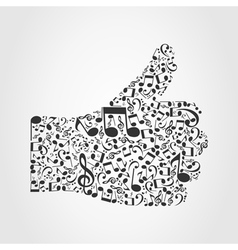Music hand3 vector image vector image