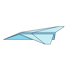 origami airplane icon cartoon style vector image vector image