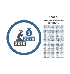 Pray for money 2016 rounded icon with 1000 bonus vector