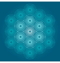 Sacred geometry symbols and elements background vector image vector image