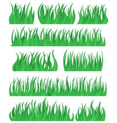 set brush grass vector image vector image
