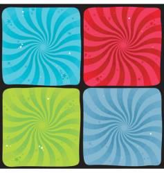 spiral background set vector image
