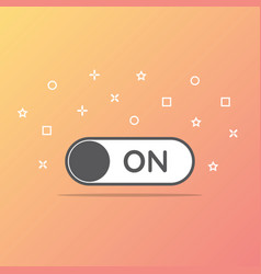 switch on toggle icon in flat style vector image vector image