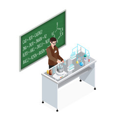 teacher of chemistry composition vector image vector image