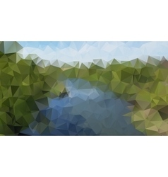 triangles river vector image