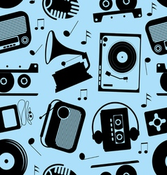 Musical seamless pattern vector
