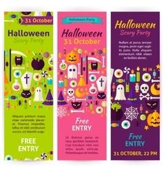 Halloween party invitation flyers vector