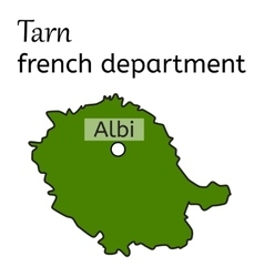 Tarn french department map vector