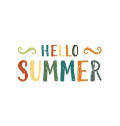Hello summer inscription vector