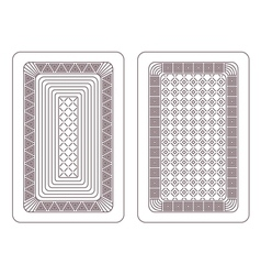 Ornament for playing cards vector