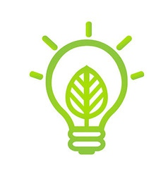Eco lamp symbol vector