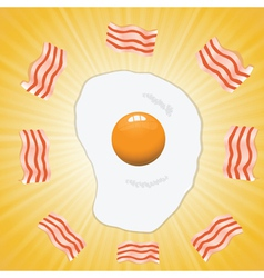 Egg and bacon vector