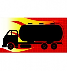 Tanker lorry vector