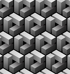 3d seamless pattern vector image vector image