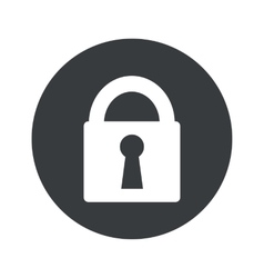 Monochrome round locked icon vector