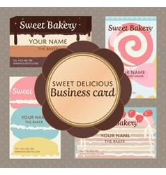 Pop up sweet delicious cute bakery and confection vector
