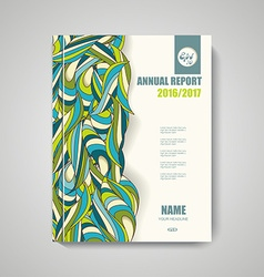Brochure design with hand drawn doodle pattern vector image