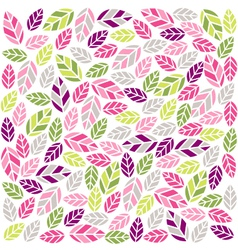 Colorful plant pattern with fabric texture vector