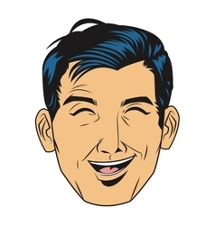 Man laughing icon vector