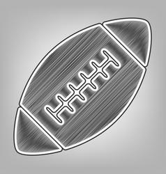 American simple football ball pencil vector