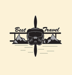 Best travel logo vector
