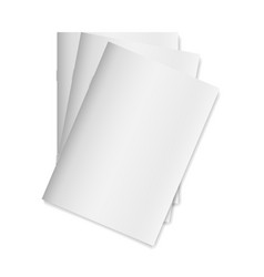 blank empty magazine or book template isolated on vector image