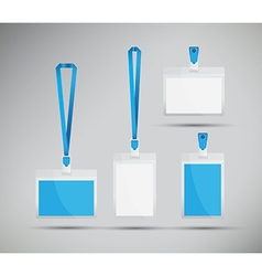 blue lanyards vector image