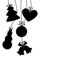christmas baubles isolated vector image