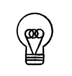 Contour flat bulb idea and creative icon vector