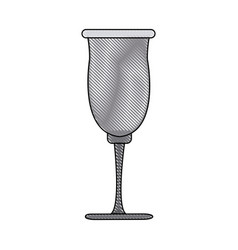 Cup glassware crystal for beverage icon vector