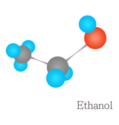 ethanol 3d molecule chemical science vector image