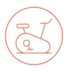 Exercise bike line icon vector