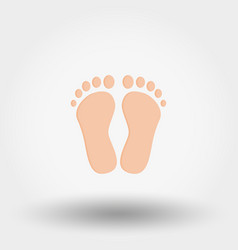 Feet icon flat vector