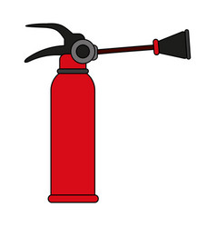 fire extinguisher flames vector image